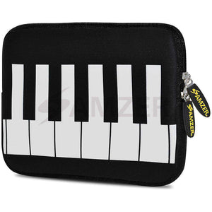 AMZER 7.75 Inch Neoprene Zipper Sleeve Pouch Tablet Bag - Keyboard Keys - amzer