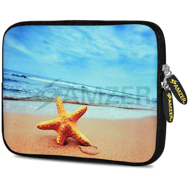 AMZER 7.75 Inch Neoprene Zipper Sleeve Pouch Tablet Bag - Star Fish