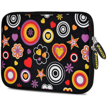 Load image into Gallery viewer, AMZER 7.75 Inch Neoprene Zipper Sleeve Pouch Tablet Bag - Retro Spheres - amzer