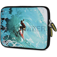Load image into Gallery viewer, AMZER 10.5 Inch Neoprene Zipper Sleeve Pouch Tablet Bag - Wave Surfer - amzer