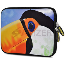 Load image into Gallery viewer, AMZER 10.5 Inch Neoprene Zipper Sleeve Pouch Tablet Bag - Toucan - amzer