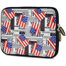 Load image into Gallery viewer, AMZER 10.5 Inch Neoprene Zipper Sleeve Pouch Tablet Bag - USA Flags - amzer