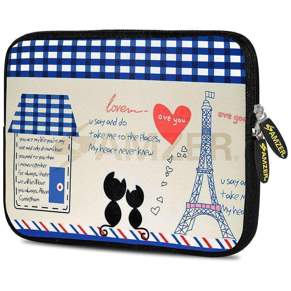 AMZER 10.5 Inch Neoprene Zipper Sleeve Pouch Tablet Bag - Parisian Date