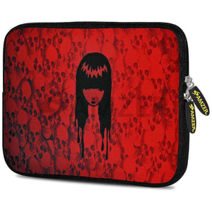 AMZER 7.75 Inch Neoprene Zipper Sleeve Pouch Tablet Bag - Red Field Girl - amzer