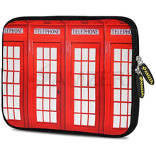Load image into Gallery viewer, AMZER 7.75 Inch Neoprene Zipper Sleeve Pouch Tablet Bag - Red Phone Boxes - amzer