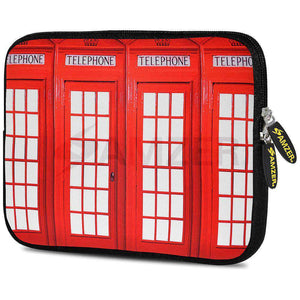 AMZER 7.75 Inch Neoprene Zipper Sleeve Pouch Tablet Bag - Red Phone Boxes - amzer