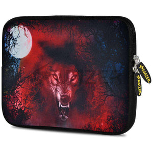 AMZER 7.75 Inch Neoprene Zipper Sleeve Pouch Tablet Bag - Red Wolf - amzer