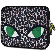 Load image into Gallery viewer, AMZER 10.5 Inch Neoprene Zipper Sleeve Pouch Tablet Bag - Green Cat Eyes - amzer