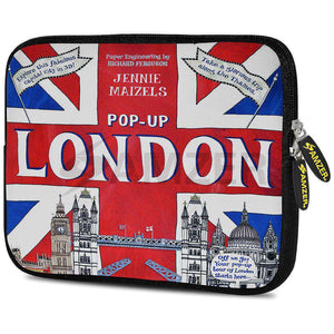 AMZER 10.5 Inch Neoprene Zipper Sleeve Pouch Tablet Bag - London Flag - amzer