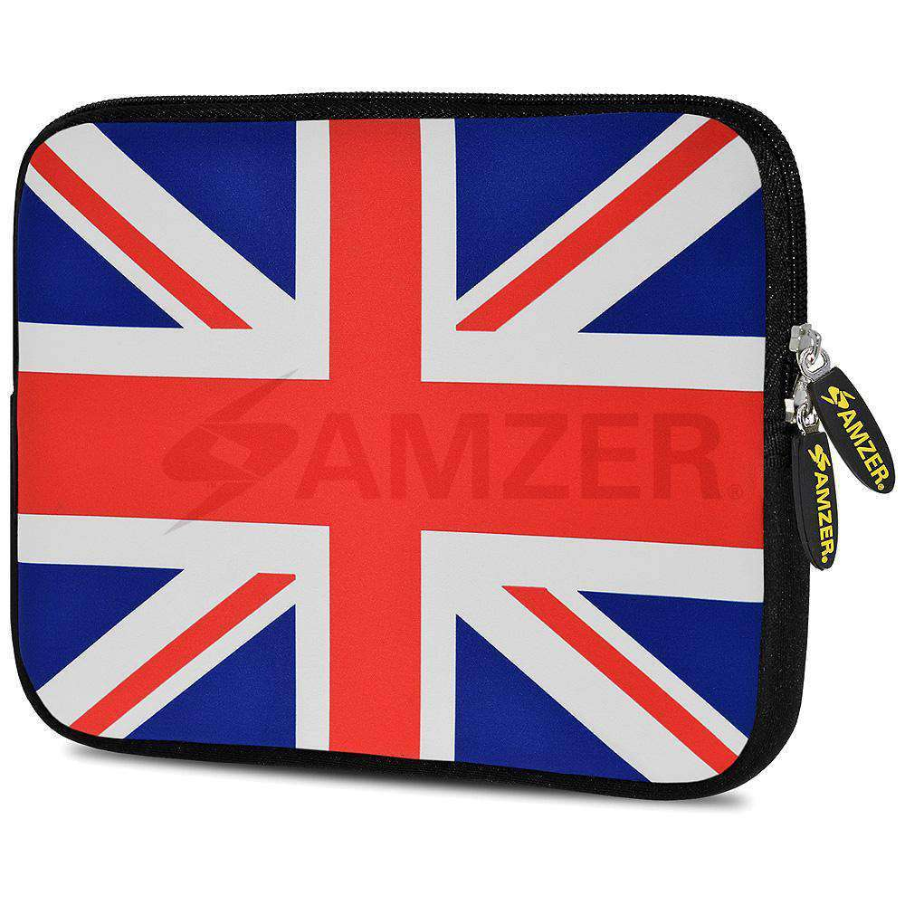 AMZER 7.75 Inch Neoprene Zipper Sleeve Pouch Tablet Bag - Union Jack