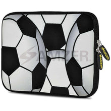 Load image into Gallery viewer, AMZER 7.75 Inch Neoprene Zipper Sleeve Pouch Tablet Bag - Football World - amzer