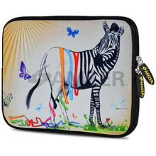 Load image into Gallery viewer, AMZER 7.75 Inch Neoprene Zipper Sleeve Pouch Tablet Bag - Zebra Stripe Falls - amzer