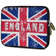 Load image into Gallery viewer, AMZER 7.75 Inch Neoprene Zipper Sleeve Pouch Tablet Bag - England Flag Cross - amzer