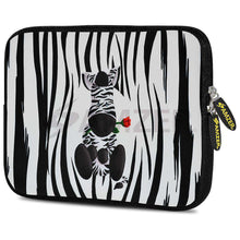 Load image into Gallery viewer, AMZER 10.5 Inch Neoprene Zipper Sleeve Pouch Tablet Bag - Cute Zebra Rose - amzer