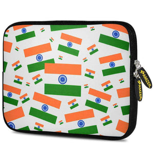 AMZER 7.75 Inch Neoprene Zipper Sleeve Tablet Pouch - India Together We Stand - amzer