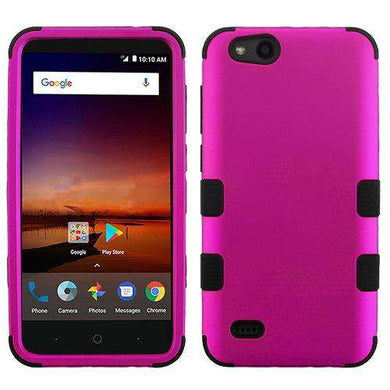 AMZER® TUFFEN Hybrid Phone Protector Cover - Hot Pink/Black for ZTE Tempo X N9137