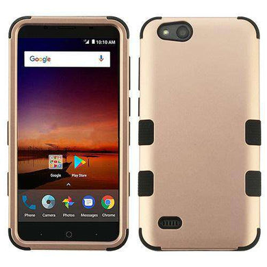 AMZER® TUFFEN Hybrid Phone Protector Cover - Rose Gold/Black for ZTE Tempo X N9137