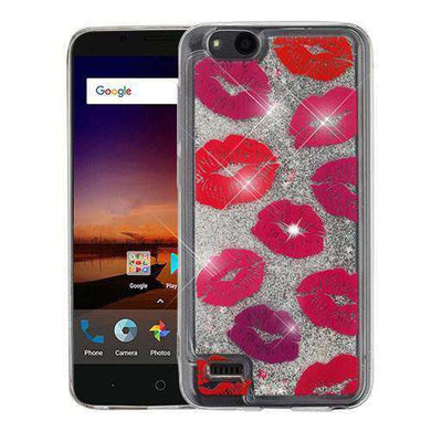 AMZER® Quicksand Glitter Hybrid Protector Cover - Blissful Kisses & Silver for ZTE Tempo X N9137