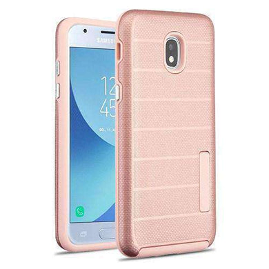 AMZER® Hybrid Matte Back Grip Case - Rose Gold/Gray for Samsung Galaxy J3 2018