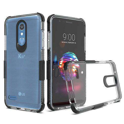 AMZER® Hybrid TPU Bumper Skin Case - Clear/Black for LG Harmony 2