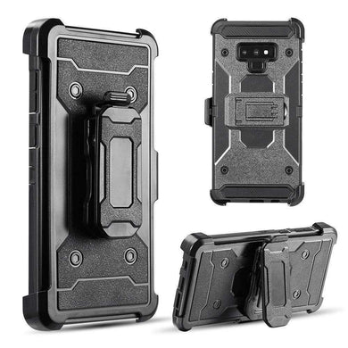 AMZER® Hybrid Shockproof Holster Case with Stand - Black/ Black for Samsung Galaxy Note9