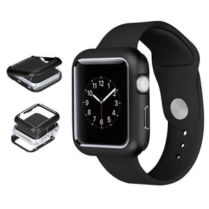 AMZER Armor Aluminum Magnetic Snap Case for Apple Watch Series 4 44mm - Black - amzer