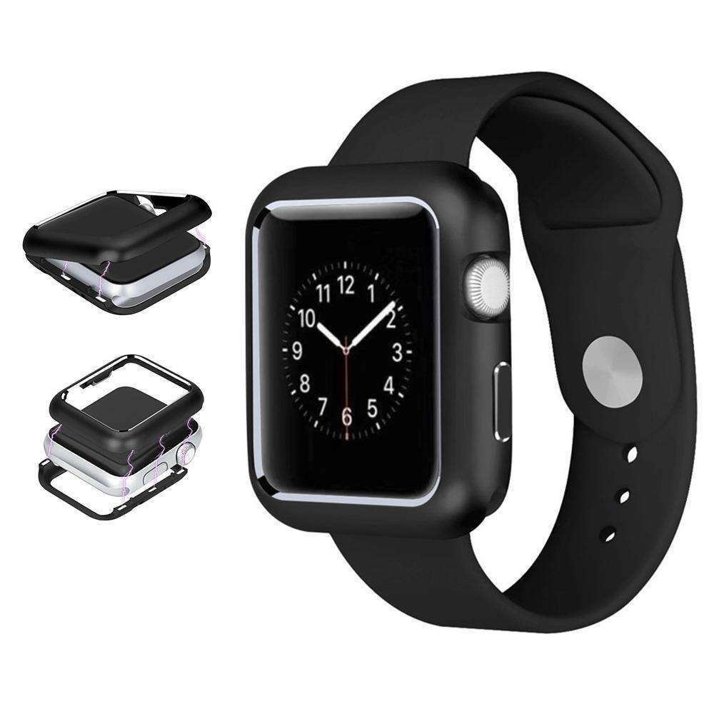 AMZER Armor Aluminum Magnetic Snap Case for Apple Watch Series 4 44mm - Black