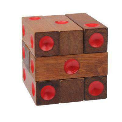 Educational Wooden Dice Pile-up Puzzle Brick Toy - amzer