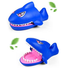 Load image into Gallery viewer, Cartoon Creative Bite Hand Novelty Toys, Shark Shape With Light and Sound Effects