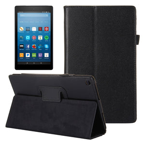 AMZER Flip Leather Case With Holder For Amazon Kindle Fire HD 8 2017