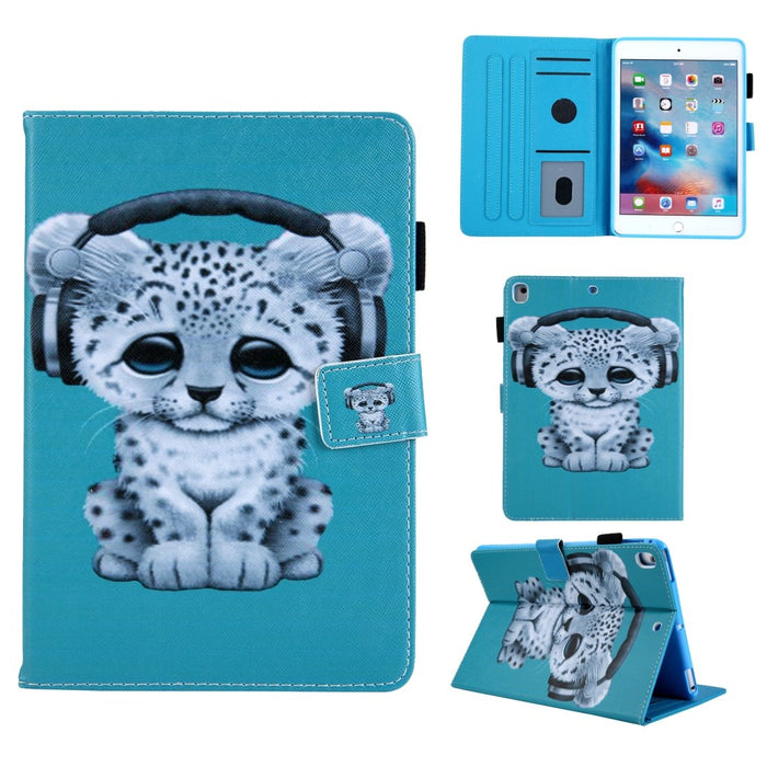 AMZER Coloured Drawing Pattern Horizontal Flip Case with Holder/ Card Slots & Wallet for iPad 10.2/ iPad 8th Generation 10.2 inch