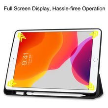 Load image into Gallery viewer, AMZER Colored Drawing Horizontal Flip Leather Case With 3-Fold Holder & Sleep/ Wake-up Function for Apple iPad 10.2 - Big Eye Me