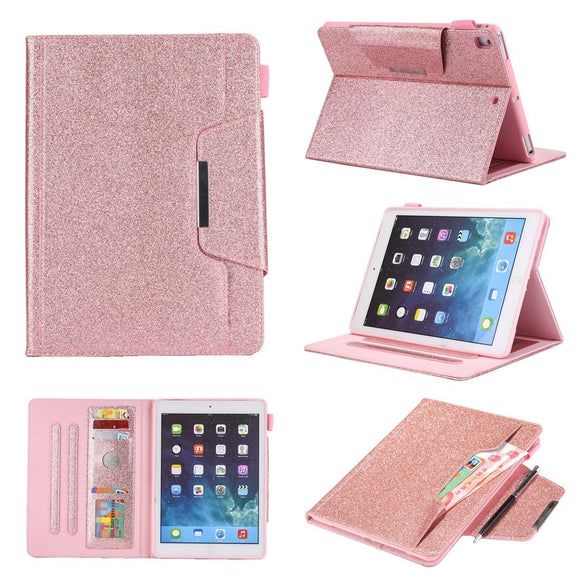 AMZER Glitter Horizontal Flip Leather Case With Holder & Card Slot/ Photo Frame/ Wallet for Apple iPad 10.2/iPad 8th Generation 10.2 inch