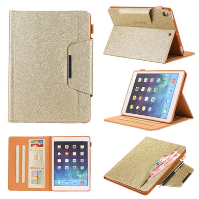 AMZER Glitter Horizontal Flip Leather Case With Holder & Card Slot/ Photo Frame/ Wallet for Apple iPad 10.2/ iPad 8th Generation 10.2 inch