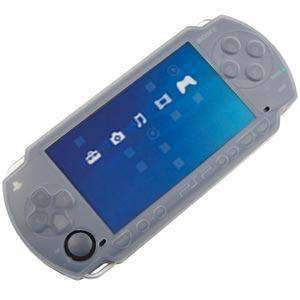 AMZER Shockproof Silicone Skin Jelly Case for Sony PSP - Clear