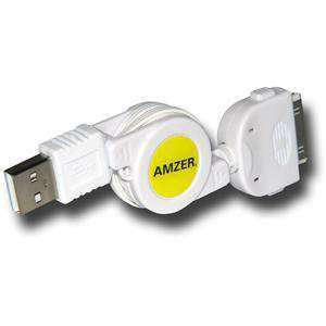 AMZER® USB Retractable Sync Data Cable For iPod Nano - amzer