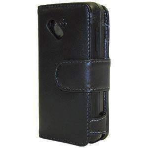 AMZER® Leather Book Case - Black for HTC Dream