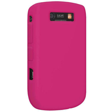 AMZER Silicone Skin Jelly Case for BlackBerry Curve 8900 - Hot Pink