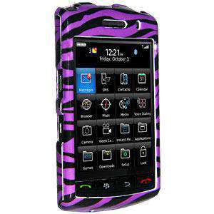 AMZER Zebra Print  Snap On Crystal Hard Case for BlackBerry Storm 9530 - Purple - amzer