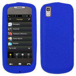 AMZER Silicone Skin Jelly Case for Samsung Instinct s30 SPH-M810 - Blue - amzer