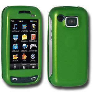 AMZER Polished Snap On Crystal Hard Case for Samsung Impression - Neon Green