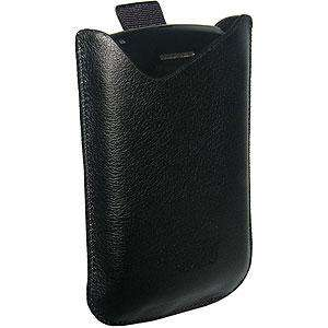 AMZER® Vertical Slip On Leather Pouch with Ribbon Pull Out for BlackBerry 8300 - amzer