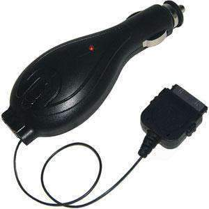 AMZER® 2-in-1 Retractable Car Charger with USB Charging Port - Black For iPhone 3G - amzer