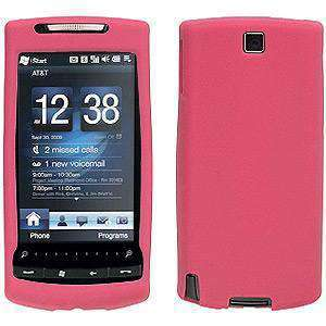 AMZER Rugged Silicone Skin Jelly Case for HTC Pure - Baby Pink
