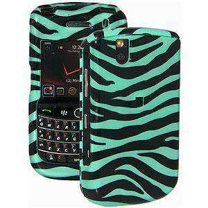 AMZER Zebra Print Snap On Hard Case for BlackBerry Bold 9650 - Blue/ Black