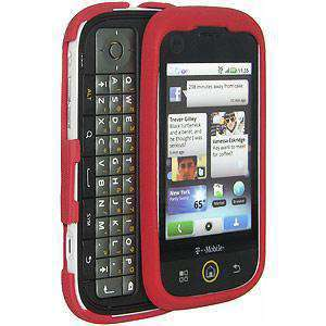 AMZER Silicone Skin Jelly Case for Motorola CLIQ MB200 - Maroon Red