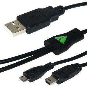 USB and Micro USB Y Splitter Charging Handy Cable