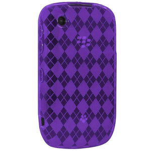 AMZER Luxe Argyle Skin Case for BlackBerry Curve 3G 9300 - Purple