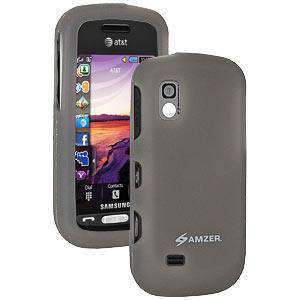 AMZER Silicone Skin Jelly Case for Samsung Solstice A887 - Grey - amzer
