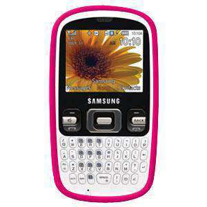 AMZER Silicone Skin Jelly Case for Samsung Freeform R350 - Hot Pink - amzer